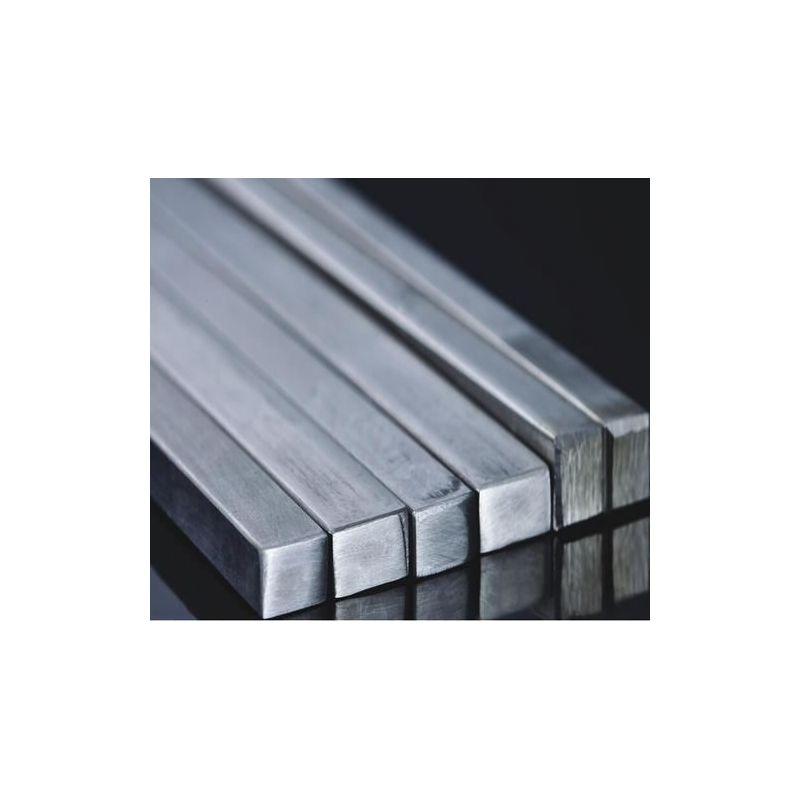 Čtvercová tyč z ušlechtilé oceli s plným materiálem, čtvercová tyč s profilem V2A,  nerezová ocel