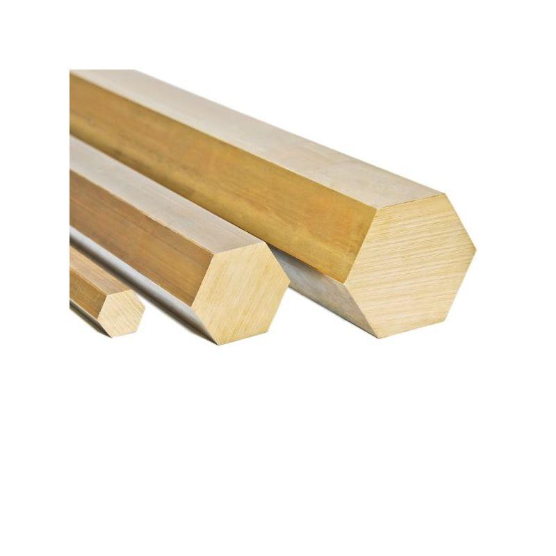 Mosaz Ø4mm-27mm hexagon 2.0401 šestihranná tyč Ms58 tyč 6-bodová Ms pevná rohož, mosaz
