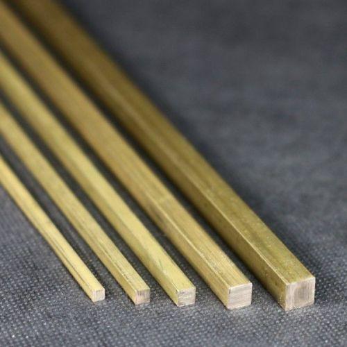 Čtvercová tyč Ø10x10mm - 15x15mm mosaz 2.0401 čtvercová tyč Ms58 čtvercová Ms pevná,  Mosaz