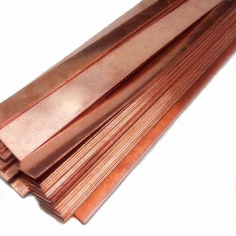 Měděná plechová deska z anodové čisté 99,9% 10x200x50-10x200x1000mm surová galvanická elektroda, měď