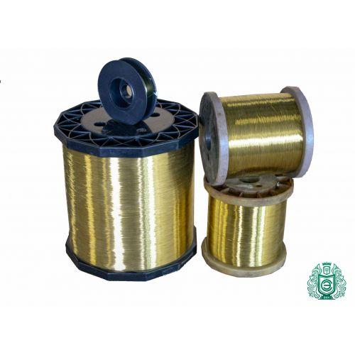 Mosazný drát o průměru 2 - 500 metrů, Ø 0,1-0,6 mm, řemeslný drát M458 bez povlaku, mosaz