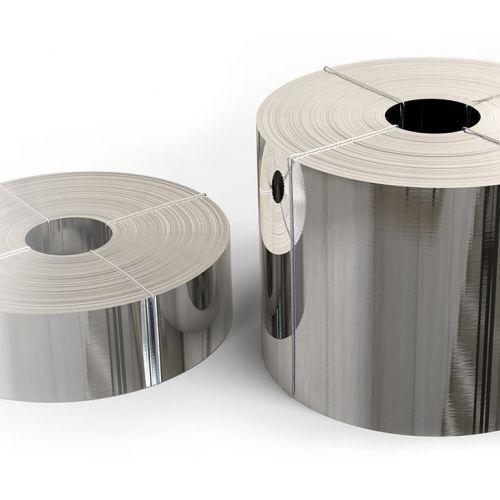 Páska z nerezové oceli fólie 1.4301 0,05x20mm až 0,4x200mm plechový pás V2A 304