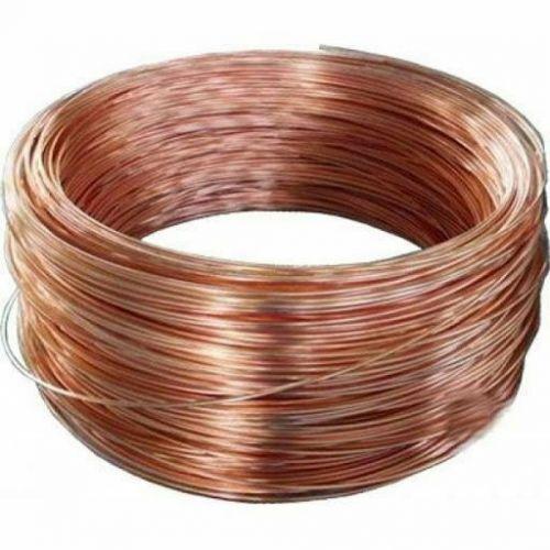 Prázdný měděný drát Ø 0,1 - 5 mm bez laku nepotaženého Cu 99 řemeslného drátu 2-750 metrů