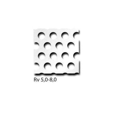 Panely z děrovaného plechu RV3-5 + RV5-8 + RV10-15 lze nařezat na požadovaný rozměr, požadovaný rozměr možný 100 mm x 700 mm