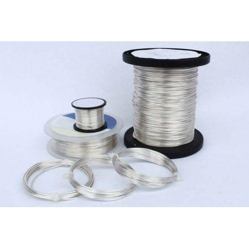 Měděný drát 2-100 metrů, stříbrný drát, řemeslný drát, šperky, postříbřené Ø0,5-1,2 mm, měď