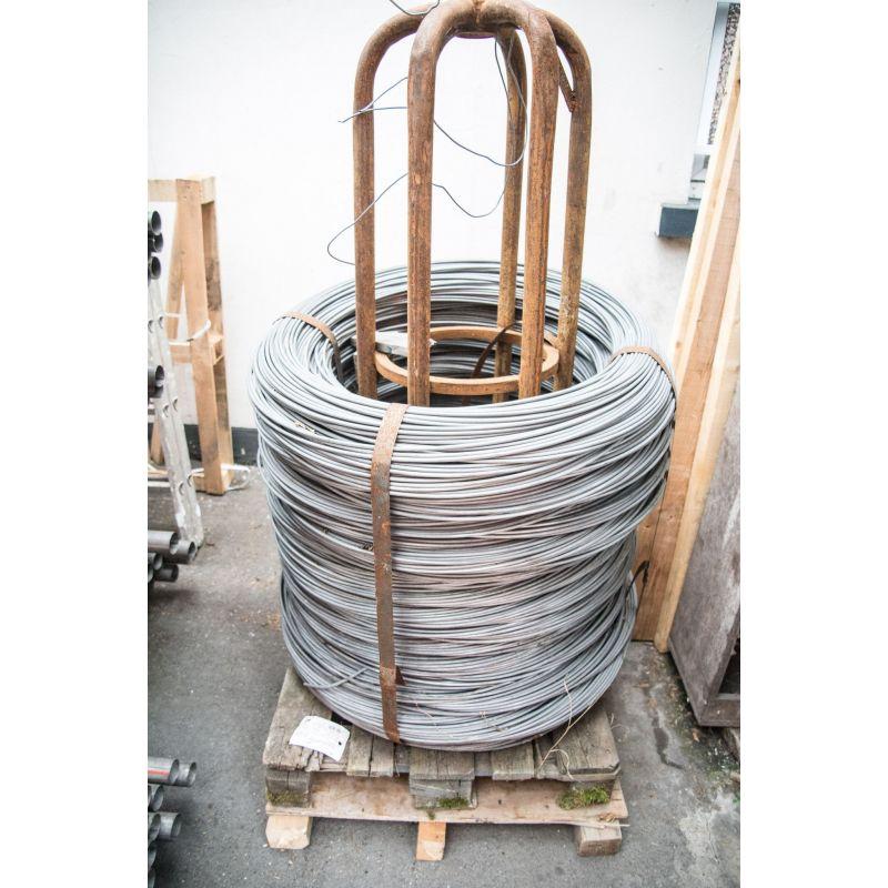Napínací dráty 0,6 - 8 mm vázací drát pozinkované železné květiny drotčí pletivo 10-500 metrů, ocel