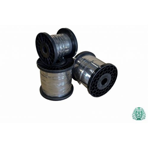Pás z plochého drátu z nerezové oceli plochý vodič 0,3x0,6 mm V2A 1,4301 304 Pásový topný drát, nerez