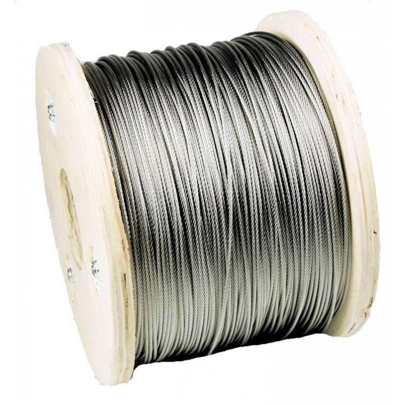 Ocelové lano z nerezové oceli o délce 1–200 metrů, ocelové lano z nerezové oceli Ø3mm, nerezová ocel